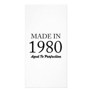 Feito em 1980 cartão