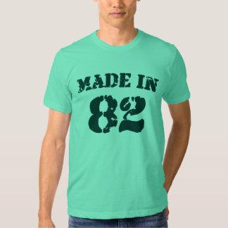 Feito em 1982 tshirts