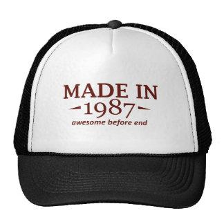 Feito em 1987 boné