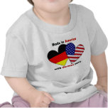 feito em América com peças alemãs Camisetas