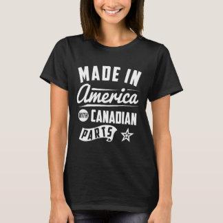 Feito em América com peças canadenses Camiseta