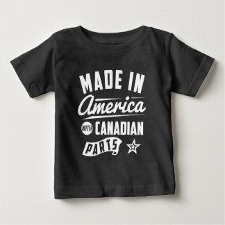 Feito em América com peças canadenses Camiseta Para Bebê