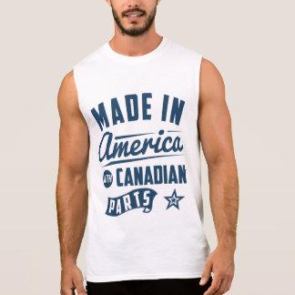 Feito em América com peças canadenses Regata