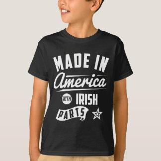 Feito em América com peças irlandesas Camiseta