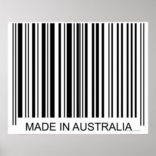 Feito em Austrália Pôsteres