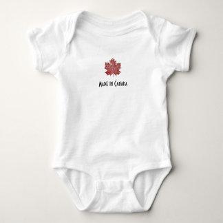 Feito em Canadá, bodysuit da folha de bordo Body Para Bebê
