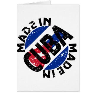 Feito em cartões de nota da etiqueta de Cuba