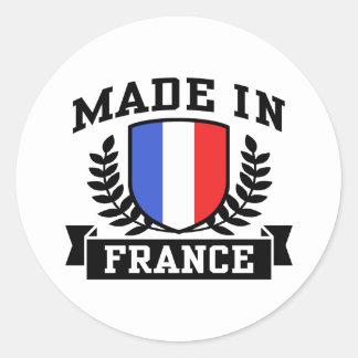 Feito em France Adesivo Em Formato Redondo