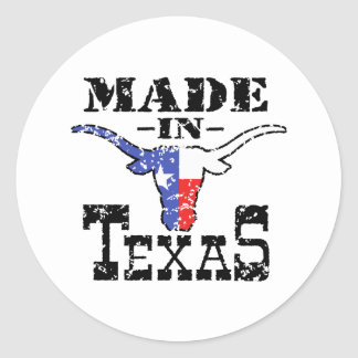 Feito em Texas Adesivos Redondos