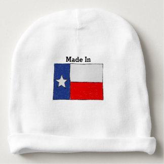 Feito em Texas. Esboço da bandeira de Texas Gorro Para Bebê