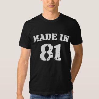 Feito na camisa 81 camisetas