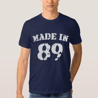 Feito na camisa 89 t-shirts