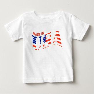 FEITO na camisa do bebê do design dos EUA