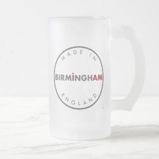 Feito na caneca do vidro de fosco de Birmingham