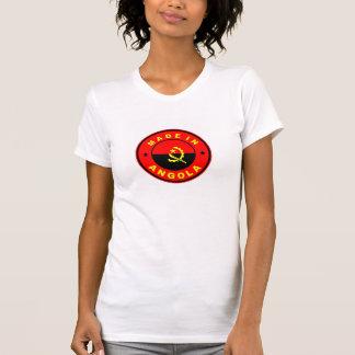 feito na etiqueta da bandeira de país de angola tshirts