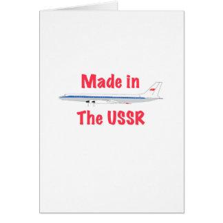 Feito na URSS Cartão Comemorativo