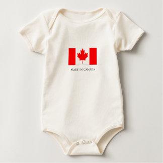 Feito no bebê Onsie de Canadá Babador