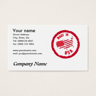 Feito no cartão de visita do design do carimbo de