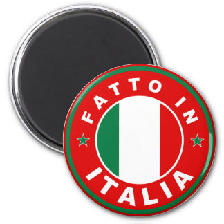 feito no fatto italia da etiqueta da bandeira de p ímã redondo 5.08cm
