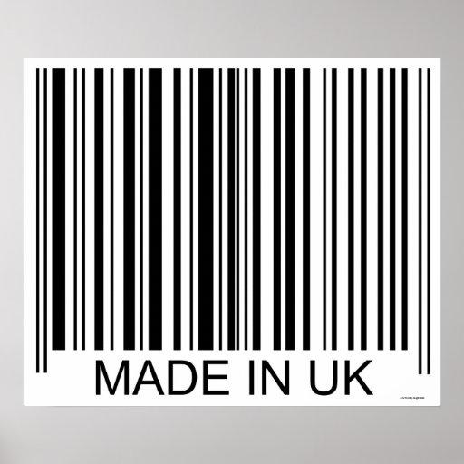 Feito no Reino Unido Impressão