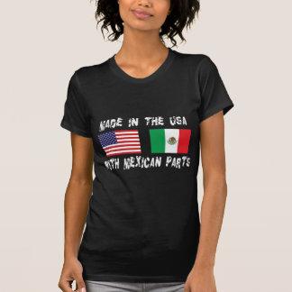 Feito nos EUA com mexicano parte a mulher Camisetas