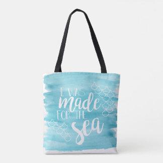 Feito para o bolsa da aguarela do mar