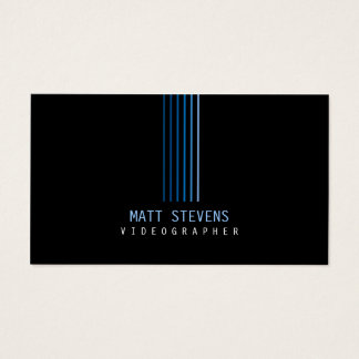 Feixes do azul do cartão de visita de Videographer