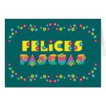 Felices Pascuas Cartão Comemorativo