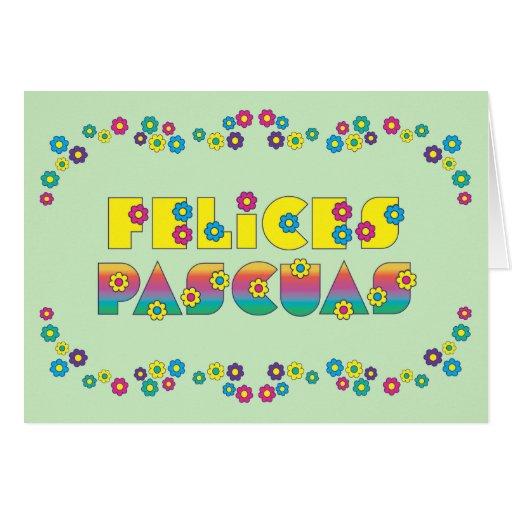 Felices Pascuas Cartão De Nota