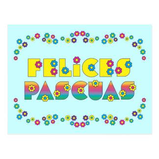 Felices Pascuas Cartão Postal