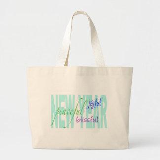 Felicidade do ano novo bolsa de lona