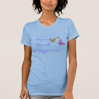 Felicidade do coração da esperança tshirts