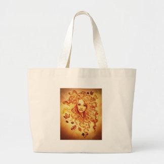 Felicidade do outono bolsa para compras