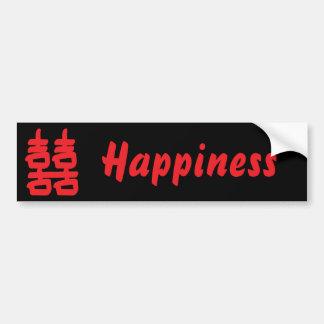 Felicidade dobro no autocolante no vidro traseiro  adesivo para carro