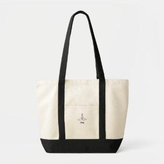 Felicidade - estilo sânscrito preto bolsa de lona