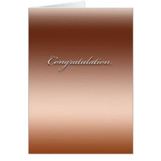Felicitações Cartão Comemorativo