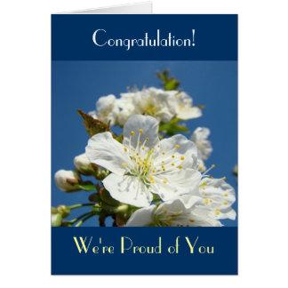 Felicitações! Cartões nós somos orgulhosos de você
