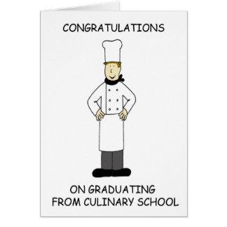 Felicitações culinárias da graduação da escola cartão comemorativo