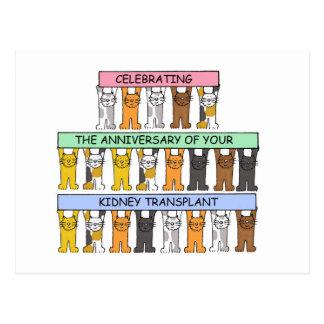 Felicitações do aniversário da transplantação do cartão postal