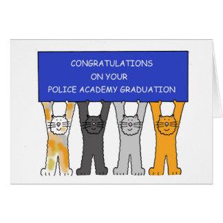Felicitações do formando da academia de polícia cartão comemorativo