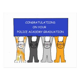 Felicitações do formando da academia de polícia cartão postal