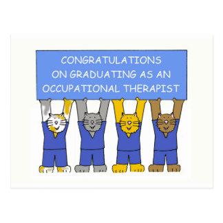 Felicitações do formando do terapeuta ocupacional cartão postal