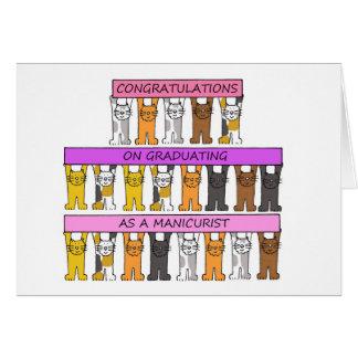 Felicitações do garduation do manicuro cartão comemorativo