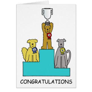 Felicitações do sucesso da exposição de cães cartão comemorativo
