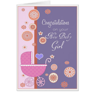 Felicitações em seu bebé novo cartão comemorativo