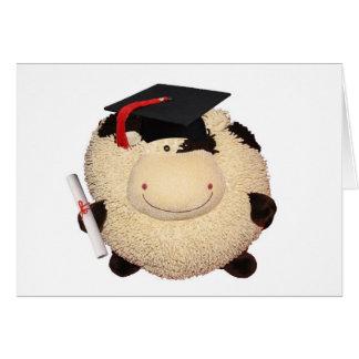 Felicitações felizes do grau da vaca cartão comemorativo