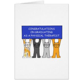 Felicitações graduadas do fisioterapeuta cartão comemorativo