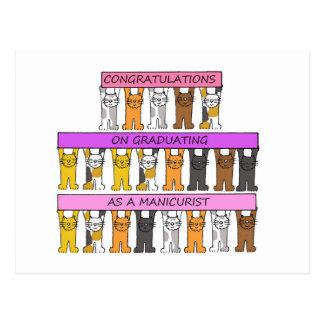 Felicitações graduadas do manicuro cartão postal