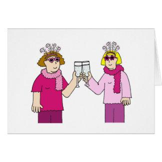 Felicitações lésbicas cartão comemorativo