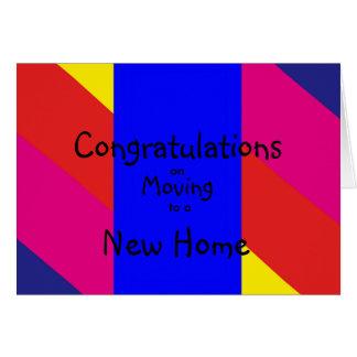 felicitações Multi-coloridas que movem-se para a Cartão Comemorativo